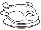 Roast Chicken Coloring Depositphotos sketch template