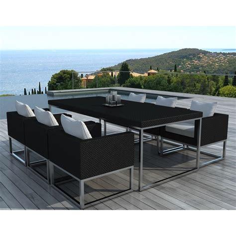Salon De Jardin Table Et Chaises by Table Et Chaises De Jardin Moderne Oceane Lestendances Fr