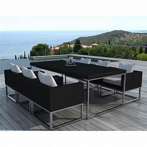 table et chaises de jardin moderne oceane lestendancesfr With salon de jardin moderne design