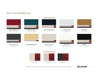 2007 lexus is 250 specs pictures trims colors cars com interior trim in 2007 lexus es 350 colors by lexus u s a