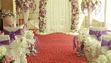 Wedding Decoration Wallpaper by Flowers For Wedding Ceremony Wedding Stock Footage