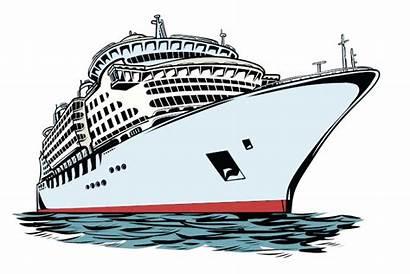 Cruise Ship Travel Vacation Vector Sea Clipart