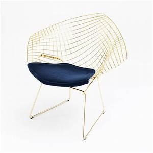 Bertoia Diamond Chair : bertoia diamond chair in gold knoll ~ A.2002-acura-tl-radio.info Haus und Dekorationen