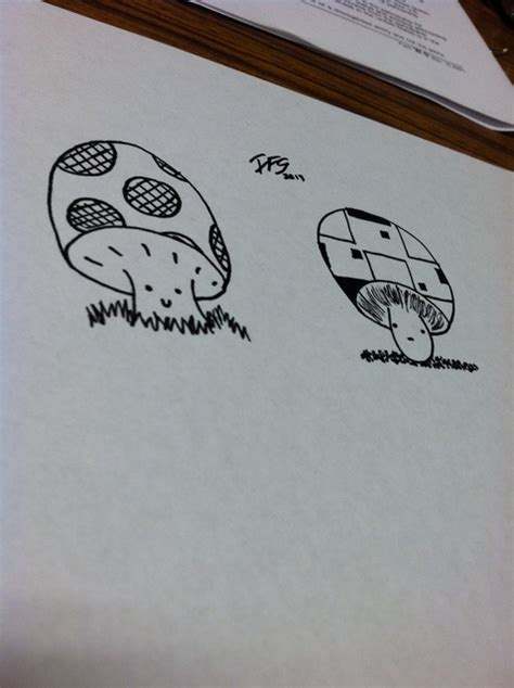 draw  cartoon mushroom snapguide
