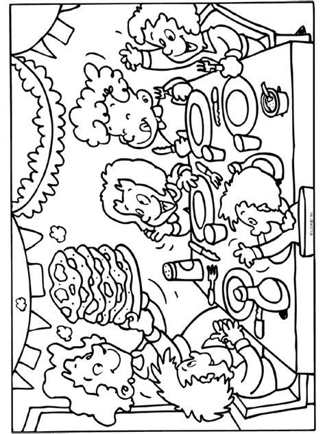 5 Jaar Samen Met Vriend Kleurplaat by Kleurplaat Pannenkoeken Kinderfeest Kleurplaten Nl