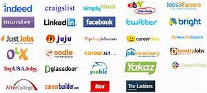 Map of world job websites for Employment search engines