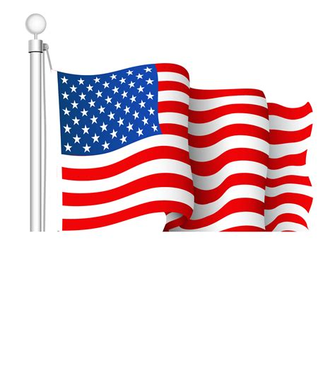 Clipart American Flag Transparent American Flag Clipart Clipground