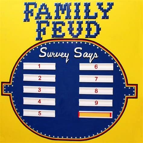 homemade family feud board google search christmas