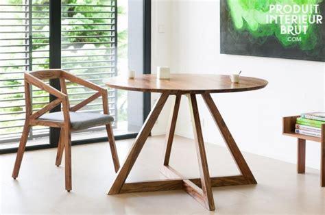 tables rondes en bois produit int 233 rieur brut mobilier et objets d 233 co esprit vintage