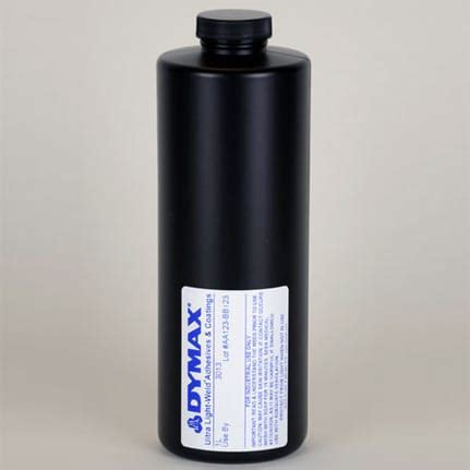 dymax ultra light weld 174 3013 uv curing adhesive clear 1 l bottle