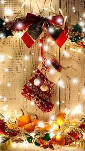 wallpaper new year wreath garland gift