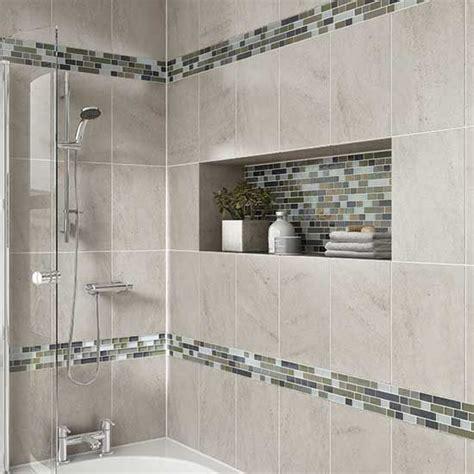 details photo features castle rock 10 x 14 wall tile with glass horizons arctic blend 3 4 x