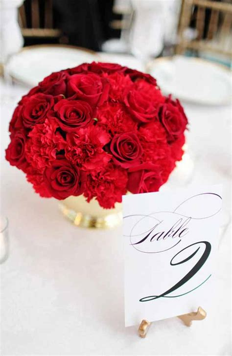 Burton Flower And Garden by Wedding Wednesday Red Inspiration Flirty Fleurs The