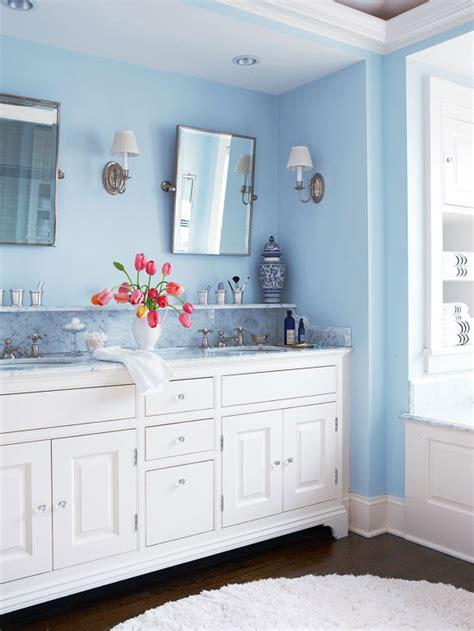 white  blue bathroom design transitional bathroom bhg
