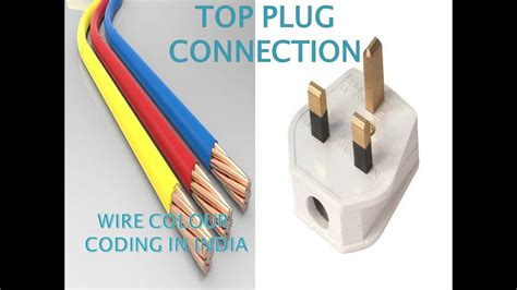 colour coding of wires 3 pin top plug connection youtube