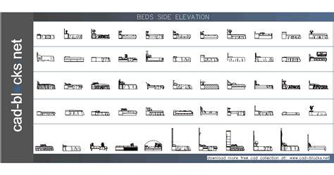 ikea platform bed furniture cad blocks beds in side elevation view