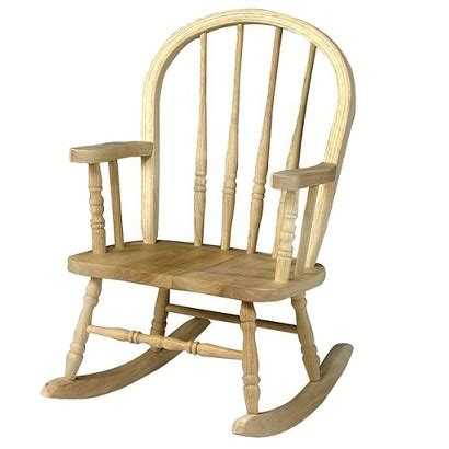 rocking chair unfinished rocker