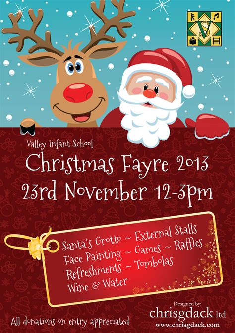 poster designed for valley infant school s christmas fayre