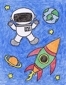 Draw an Astronaut - Art Projects for Kids