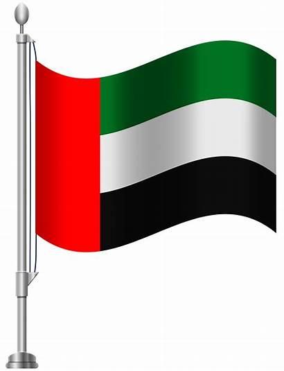 Flag Emirates Clipart Clip Arab United Flags