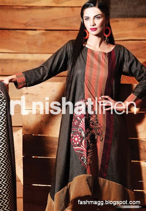 fashion style nishat linen winter dresses collection