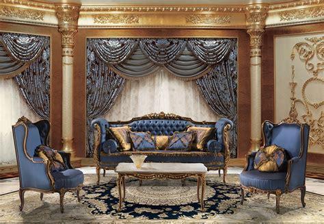 rimbaud classic italian blue sofa  luxury sitting room
