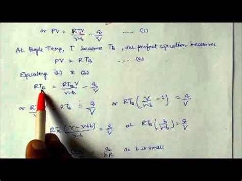 derivation  boyle temp  real gas equation lecture