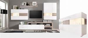 Wohnwand Mit Sideboard : wohnzimmer monty 351 542 x207x47cm wei eiche wohnwand sideboard led wohnbereiche wohnzimmer ~ Frokenaadalensverden.com Haus und Dekorationen