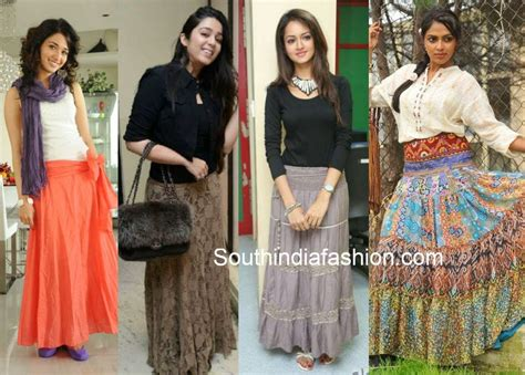 bollywood actress wearing long skirts how to wear and what to wear with long skirts south