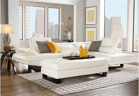 white livingroom furniture nagoya white 3 pc sectional living room living room sets