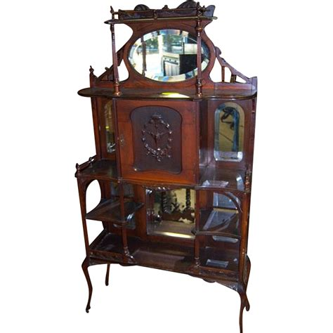 Victorian Etagere With Mirror, Galleries, Shelves, Carved