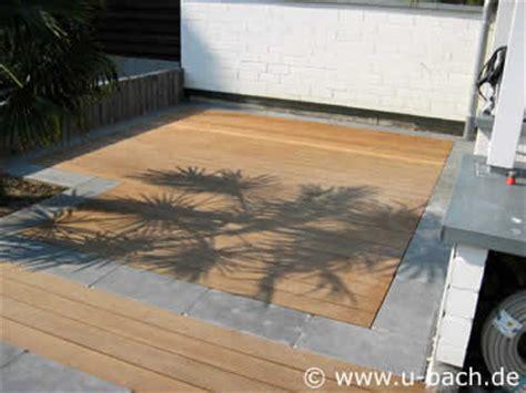 naturholz terrassen im garten von  bach gartenbau