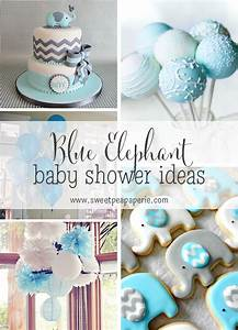 Inspirations :: Blue and Gray Elephant Baby Shower Sweet