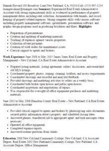 real estate administrative assistant description for resume professional real estate administrative assistant
