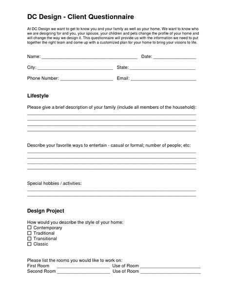 Dc Design  Client Questionnaire  Eleven One Interiors