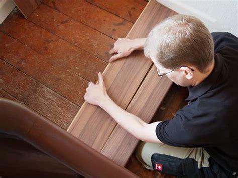 alte stufen renovieren laminat auf treppen verlegen