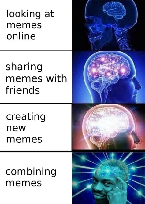 Expanding Brain Memes - types of memers expanding brain know your meme