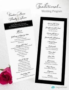 wedding program wording With traditional wedding program templates