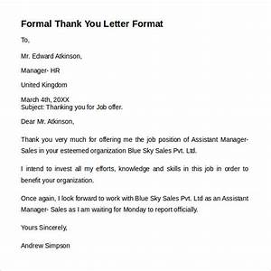 Appreciation Letter Sample Pdf Free 9 Formal Letters In Ms Word Pdf
