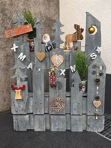 Europalette Deko Garten : weihnachtsdeko aus alter palette paletten deko ~ Watch28wear.com Haus und Dekorationen