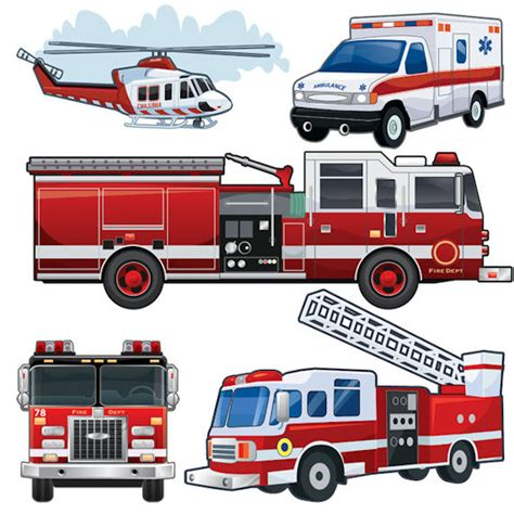create  mural fire truck wall stickers  sizes