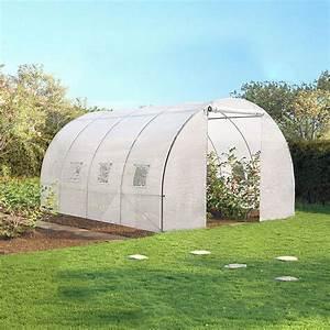 serre de jardin tunnel 12 m2 blanche translucide 3x4 m With serre tunnel de jardin