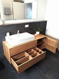 Waschtisch Komplett Mit Unterschrank : waschtischunterschrank aus holz modern massiv eiche ~ Watch28wear.com Haus und Dekorationen