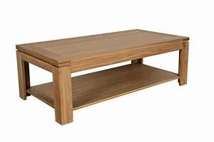 Table Basse Moderne : table basse moderne en bois massif chene de france hellin ~ Preciouscoupons.com Idées de Décoration
