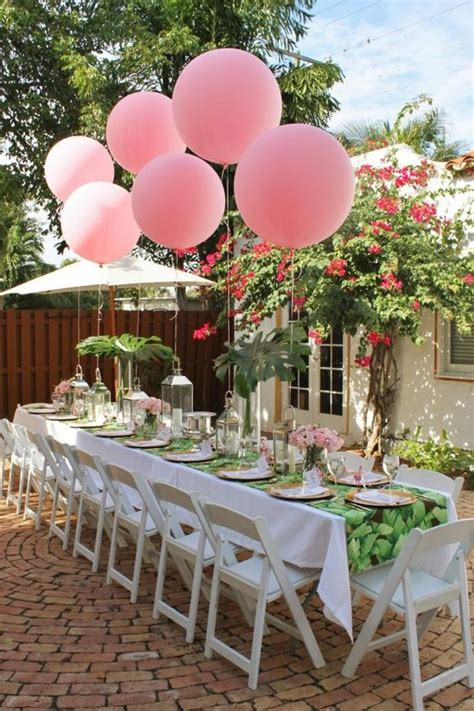 pink and white balloon decorations 21 sweet balloon decorations for a bridal shower shelterness
