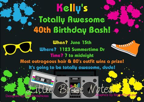 theme birthday invitations