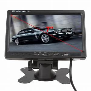 Back Up Tft Color Monitor Wiring Diagram  7 Tft Lcd Car Rearview Monitor With Color Display The