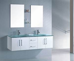 Vasque En Verre Salle De Bain : meuble salle de bain suspendu weng double vasque en verre ~ Edinachiropracticcenter.com Idées de Décoration