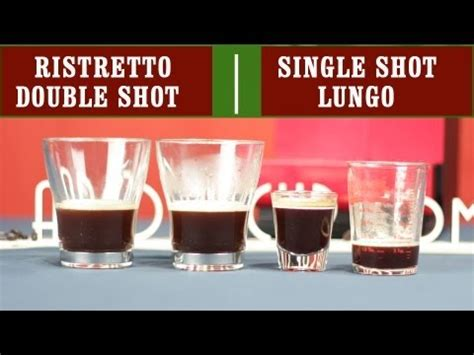 Just remember that these are averages. Ristretto, Single Espresso Shot, Double Espresso Shot and ...