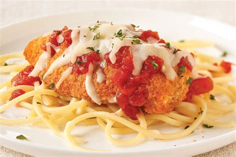 Toss the mozzarella with the parmesan cheese and parsley; Simple Chicken Parmesan with Spaghetti - My Food and Family